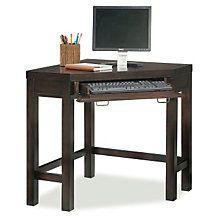 Home Styles City Chic Corner Laptop Desk, Espresso Finish Home Office Furniture Sets, Dorm Furniture, Furniture Ideas, Space Saving Desk, Space Saving Furniture, Desk Space, Corner Writing Desk, Corner Desk, Laptop Desk For Bed