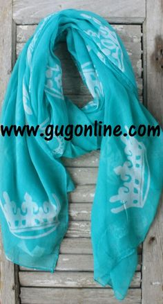 Crown Scarf in Assorted Colors www.gugonline.com