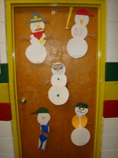 4th grade boys added their own bit of creativity to these snowmen.  Great job guys!