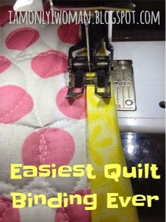 Easiest Quilt Binding Method EVER! Binding a Quilt with Clear Thread | A Vision to Remember All Things Handmade Blog