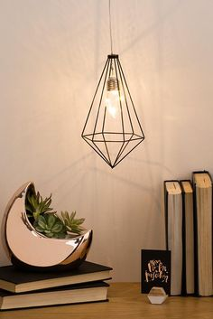 Diamond Polished Copper Cage Light Shade For Industrial Lights