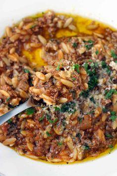 Orzo Recipes, Greek Recipes, Dinner Recipes, Cooking Recipes, Tilapia Recipes, Potato Recipes, Healthy Eating Tips, Healthy Recipes, Healthy Food