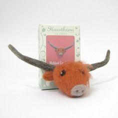 Needle Felting Brooch Kit - Highland Cow