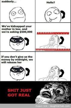 When her mother got kidnapped.