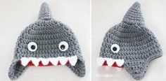 Repeat Crafter Me: Crochet Shark Hat Pattern - free pattern, sizes newborn to adult by sueguerra
