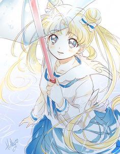 Serena Sailor Moon Raining Umbrella