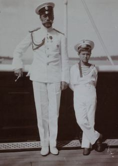 Nicholas II and his son, Tsarevich Alexei.