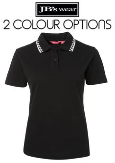 A classic fit chef polo features a contrast chequered trim on the collar for added style. Chef polo shirt comes in black or white Hospitality, Polo Shirt, Lady, Mens Tops, How To Wear, Style, Fashion, Swag, Moda
