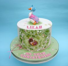 Beatrix Potter themed christening cake by Karen Geraghty Gorgeous Cakes, Amazing Cakes, Beatrix Potter Cake, Peter Rabbit Cake, Painted Cakes, Little Cakes, Cake Gallery, Novelty Cakes, Creative Cakes