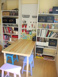 craft nook. I like the idea of the table in the center