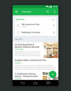 Evernote Material Design