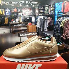 big sale 76707 83da1 Retro Nike Classic Cortez Special Men Running Shoes Leather Golden