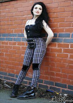 My fashion design & photography portfolio picture - Punkvs1940s culture clash work