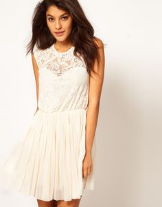 ASOS Skater Dress With Lace And Mesh  (http://us.asos.com/pgeproduct.aspx?iid=1839551#)