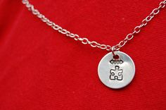 Circle tag with Chain Link Necklace by Stamping4Autism on Etsy
