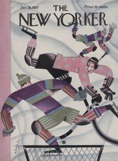 Constantin Alajálov : Cover art for The New Yorker 100 - 15 January 1927