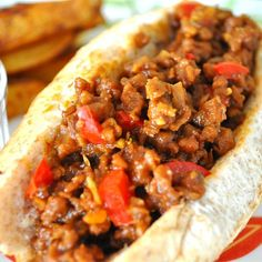 "Vegetarian Sloppy Joes I ""Loved it!!! My family is not vegetarian and we loved this! Nice kick to it."""