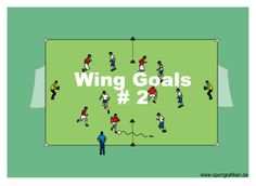 http://www.top-soccer-drills.com/wing-goals--2.html #Soccer #Practice #Drills