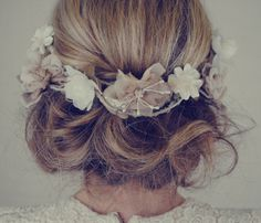 Flowers on top of hair accent