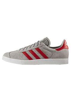 adidas Originals GAZELLE  - Sneaker low - medium grey heather solid grey/scarlet/footwear white für 99,90 € (07.06.17) versandkostenfrei bei Zalando bestellen.