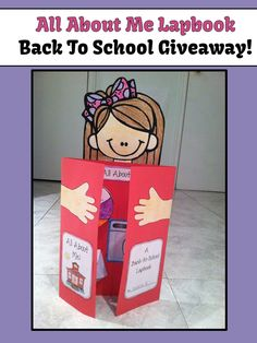 Giveaway - All About Me Back to School Activity Lapbook! - Giveaway – All About Me Back to School Activity Lapbook! All About Me Preschool, All About Me Activities, All About Me Crafts, Lap Books, First Day Activities, Back To School Activities, Beginning Of The School Year, First Day Of School, All About Me Project