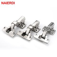 4PCS NAIERDI Hinge 304 Stainless Steel Pure Copper Hydraulic Damper Buffer Cabinet Cupboard Door Hinge For Furniture Hardware #women, #men, #hats, #watches, #belts, #fashion, #style
