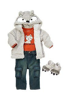 Putting this on Henry's Christmas List. SO adorable and love the little wolf booties! Snuggle Wolf - Crazy8