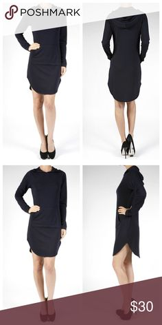 Hoodie French terry tunic dress Long sleeves French terry round hem hoodie tunic dress PLEASE Use the Poshmark new option you can purchase and it will give you the option to pick the size you want ( all sizes are available) BUNDLE and save 10% ( no trades price is firm unless bundled) Dresses