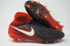 buy popular c03de 011b3 Nike Magista Obra II FG Mens Soccer Cleats Black Red 844595-061 Size 9.5