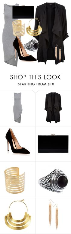 """""""Untitled #405"""" by sara-bitch1 ❤ liked on Polyvore featuring Gianvito Rossi, Charlotte Olympia, Hervé Van Der Straeten and Dorothy Perkins"""
