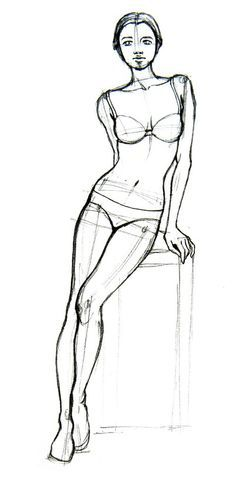 Today's Drawing Class: Drawing the Female Body | Drawing how-to How to Draw Basic Human Figures via wikiHow.com