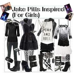 """Jake Pitts Inspired (For Girls)"" by xxxbloodyrosexxx on Polyvore - I love how it says 'for girls'"