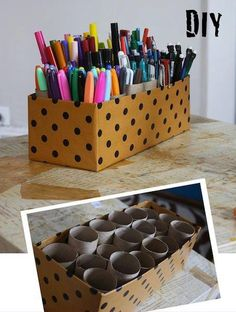 Organising pens, great for kids colouring pens