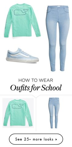 """Old school"" by catalinaavchin on Polyvore featuring Vineyard Vines, Vans, women's clothing, women, female, woman, misses and juniors"
