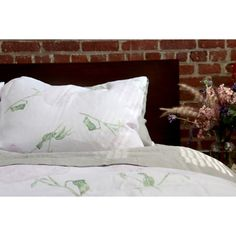 Huddleson Peony print floral linen duvet cover and pillowcases