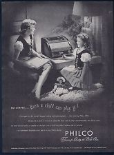 Vintage Ad -Philco Radio-Phonograph, So simple even a child can do it- 3/10/1947
