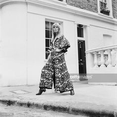 French fashion model Amanda Lear in a new outfit by British designer Ossie Clark for Alice
