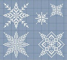 Snowflake cross stitch patterns (luli: fiocchi di neve) by christine Xmas Cross Stitch, Cross Stitch Love, Cross Stitch Charts, Cross Stitch Designs, Cross Stitching, Cross Stitch Embroidery, Cross Stitch Patterns, Snowflake Embroidery, Knitting Charts