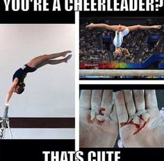 Your a cheerleader? That's cute
