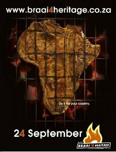 24 September, is Heritage day in South Africa. We braai, most of all, we celebrate our different cultures. African Map, African Theme, Braai Recipes, 24 September, South African Recipes, Food Videos, Delish, Recipies, Yummy Food