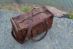 Amazon.com: KPL 21 Inch Vintage Leather Duffel Travel Gym Sports Overnight Weekend CYBER MONDAY SALE: Sports & Outdoors