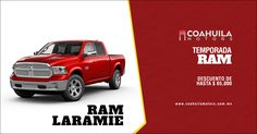 Temporada #RAM. Con descuento de hasta $ 65,000, Estrena la Incansable #RAMLaramie. A todo con todo.