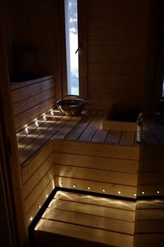 Inside A House, My House, Modern Saunas, Sauna Lights, Sauna Shower, Sauna Design, Finnish Sauna, Spa Rooms, Modern Bathroom Decor