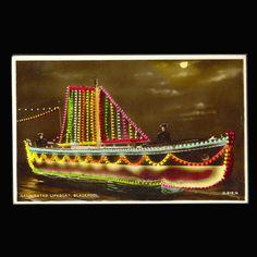 Vintage Postcard Illuminated Life Boat from JMCVintagecards on Etsy Postcards For Sale, Vintage Postcards, Night Sights, Blackpool, Etsy Vintage, Blood, Awesome, Life, Vintage Travel Postcards