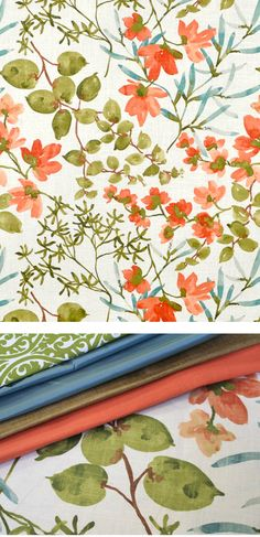 Floral fabric with coordinating fabrics