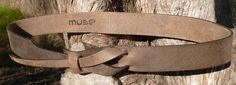Safari Outback Brown Leather Belt by Muse  11/2 inch by MuseBelts, $44.95