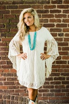 Check out all of the different southern style dresses we have to offer! We have amazing tunic dresses, beautiful maxi dresses, and sassy mini dresses! White Country Dress, Country Dresses With Boots, Robes Country, Western Dress With Boots, Southern Style Dresses, Western Dresses, Cowgirl Outfits For Women Dresses, Cowgirl Style Outfits, Beautiful Maxi Dresses