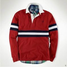 Polo Ralph Lauren Men's Stripes long sleeved Polo Red Ralph Lauren Long Sleeve, Polo Ralph Lauren, Lots For Sale, Long Sleeve Polo, Stripes, Mens Fashion, Mens Tops, Jackets, Red