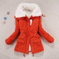 Padded Fur Cotton Drawstring Jacket