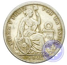 PERU-1908-1/2 SOL-TTB